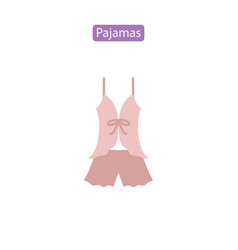 Pajamas flat icon vector