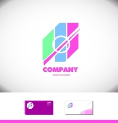 Pastel colors abstract logo icon vector