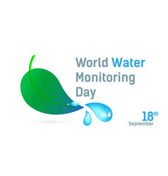 Poster world water monitoring day typography style vector