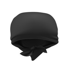 Realistic 3d detailed black blank bandana vector