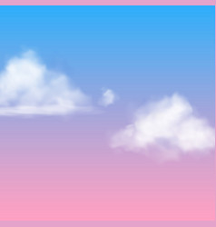 Realistic cloud white nubes fluffy sky fog vector