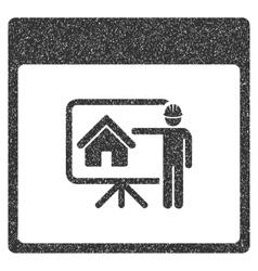 Realty developer calendar page grainy texture icon vector