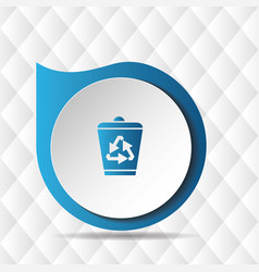 recycle bin icon geometric background image vector image