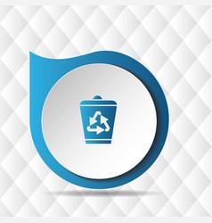 recycle bin icon geometric background image vector image