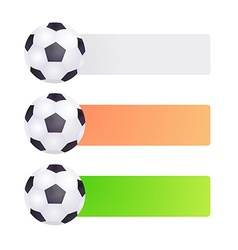 Set label with soccer ball vector image