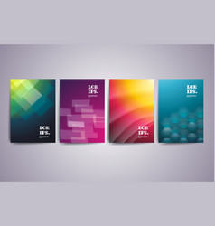 Set of abstract geometric design for brochure vector