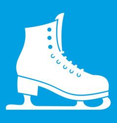 Skates icon white vector