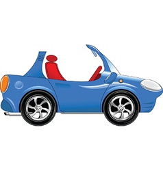 Small blue car vector