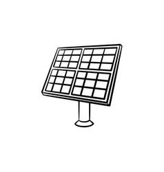 solar panel hand drawn sketch icon vector image