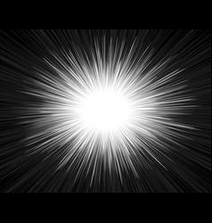 Speed light comic book style explosion beam vector