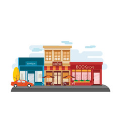 store facade in the down town vector image
