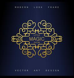 stylish linear art deco frame vector image