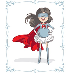 Supermom Character and Card Design vector image