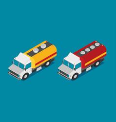tank truck isometric icon vector image