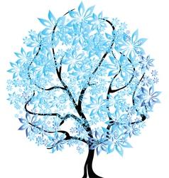 Tree in snow vector