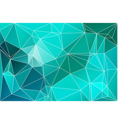 Turquoise green geometric background with mesh vector