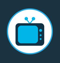 tv icon colored symbol premium quality isolated vector image