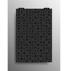 Vertical Poster A4 Puzzle Pieces Black Puzzles vector image