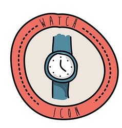 Watch design vector