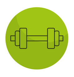 Weight lifting device icon vector