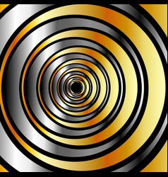 With metallic rings vector