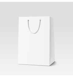 Empty Shopping Bag for advertising and branding vector image vector image