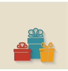 gift boxes background vector image vector image