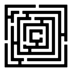 rectangle maze izolated on white vector image vector image