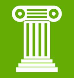 roman column icon green vector image vector image