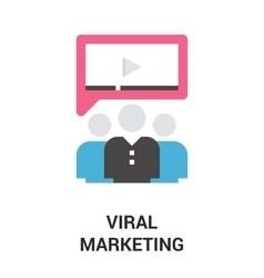 viral marketing icon concept vector image