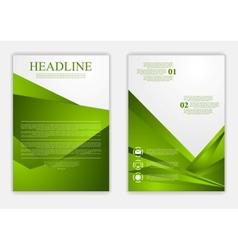 Abstract green corporate tech flyer design vector