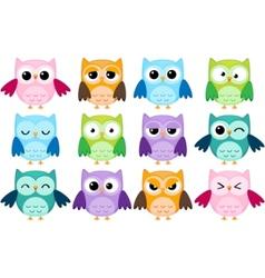 cartoon owls vector image