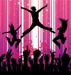 dancing people vector image