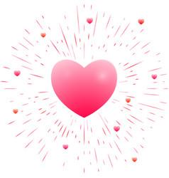 Romantic pink heart vector