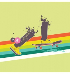 skateboard rider vector image