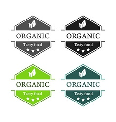 Emblems of Organic Tasty food vector image vector image