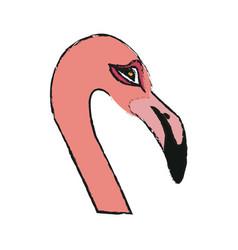 flamingo bird icon vector image