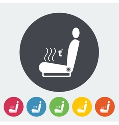 Icon heated seat vector image