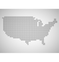 Map of USA from round dots vector image vector image