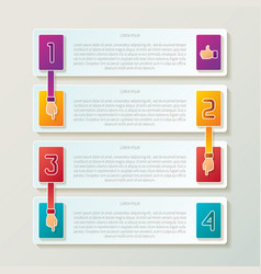 abstract 4 steps infographic template in 3d style vector image