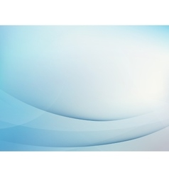 Abstract blue background with smooth lines EPS 10 vector image