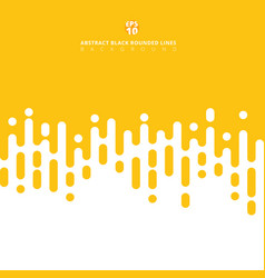 Abstract yellow mustard rounded lines halftone vector
