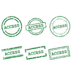Access stamps vector