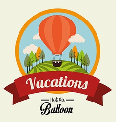 Air balloon over beige background vector image