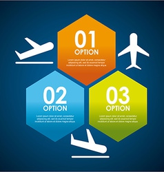 airplane concept vector image