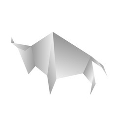 Angry bull origami stylized triangle vector