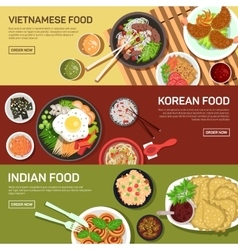 Asian street food web banner vector image