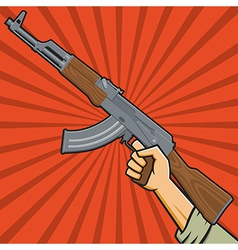 Assault Rifle or Sub-machine Gun vector image