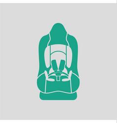 Baby car seat icon vector image