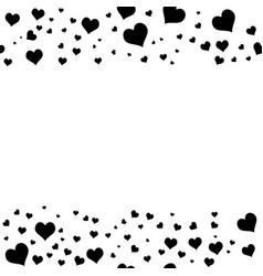 black hearts on white background vector image
